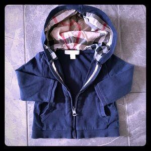 Baby Burberry Zip up hoodie sweatshirt 9months